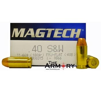 40 S&W 180gr FMJ-FP MagTech Ammo Box (50 rds)