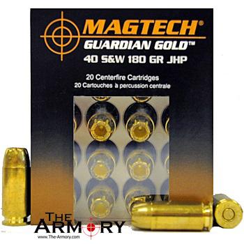 40 S&W 180gr JHP Guardian Gold Magtech Ammo Box (20 rds)