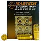45 Auto+P 185gr JHP Guardian Gold Magtech Ammo Box (20 rds)