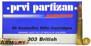 303 British 174 gr FMJBT PPU Ammo Box (20 rds)