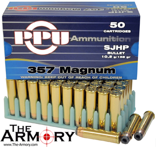 Buy This 357 Mag 158gr SJHP PPU Ammo for Sale
