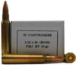Buy This 223 Remington (5.56x45mm) 55 gr FMJ M193 PPU Ammo for Sale