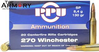 270 Winchester 130gr SP PPU Case (500rds)