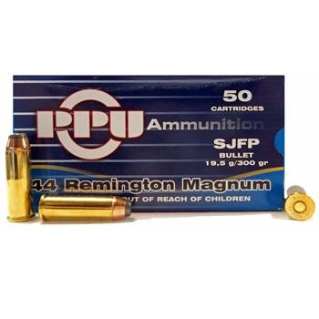 44 Remington Magnum 300gr SJFP PPU Ammo Box (50 rds)