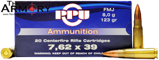 Buy This 7.62x39 123gr FMJ PPU Ammo for Sale