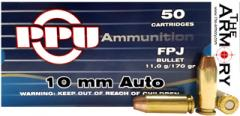 10mm Auto 170gr FPJ PPU Ammo Case (500 rds)