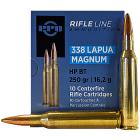 338 Lapua Magnum 250gr HPBT PPU Ammo Box (10 rds)