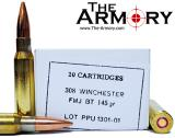 Buy This 308 Win (7.62x51mm) 145 gr FMJBT PPU Ammo for Sale