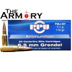 PPU 6.5mm Grendel Ammo 110gr FMJ-BT