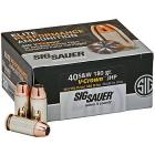 40 S&W 180gr V-Crown JHP Sig Sauer Elite Performance Ammo Box (20 rds)