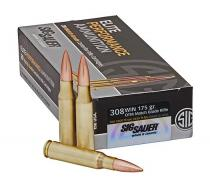 308 Winchester 175gr OTM Match Grade Sig Sauer Elite Performance Ammo Box (20 rds)