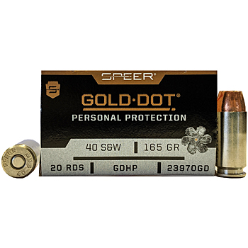 40 S&W 165gr GDHP Speer Gold Dot Ammo Box (20 rds)