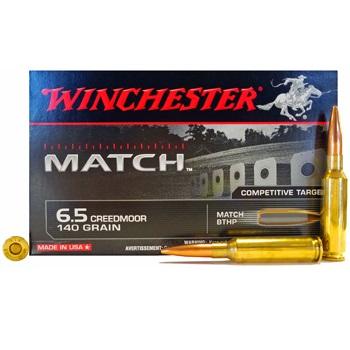6.5 Creedmoor 140gr BTHP Winchester Ammo Box (20 rds)