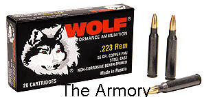Buy This 223 Remington (5.56x45mm) 55 gr FMJ Wolf Ammo for Sale
