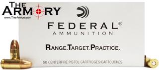 9mm Luger (9x19mm) 115gr FMJ Federal Range & Target Ammo Case (1000 rds)