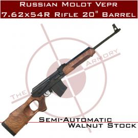 "Russian Molot Vepr 7.62x54R Rifle 20"" Barrel"